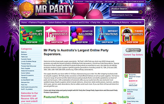 Mr Party – Party Shop