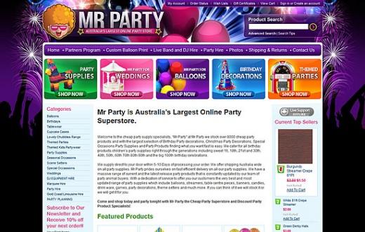 Mr Party – Party Shop