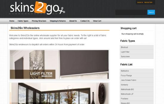 Skins2Go – Online Store